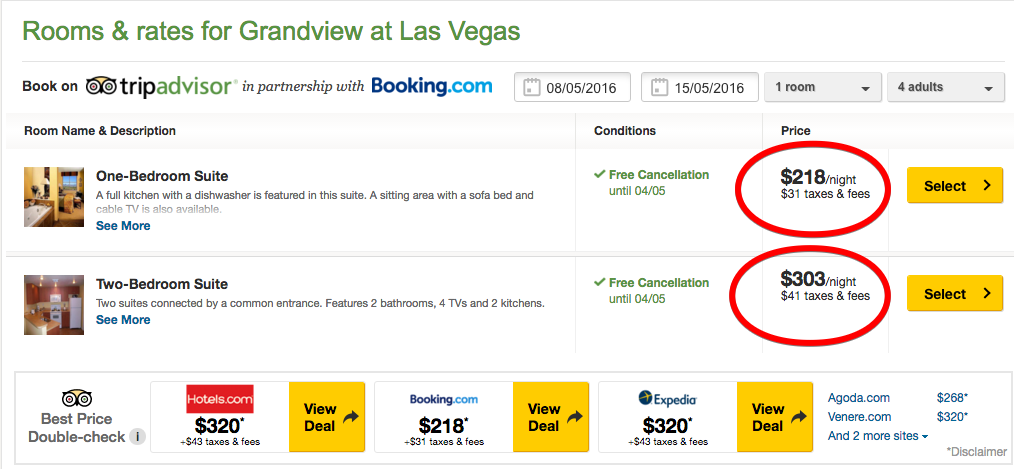 Grandview at Las Vegas - Hotel Reviews, Deals - Las Vegas, NV - TripAdvisor 2016-04-04 20-11-20